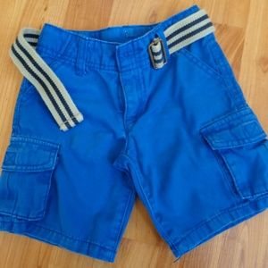 Crazy 8 Royal blue cargo shorts 3T